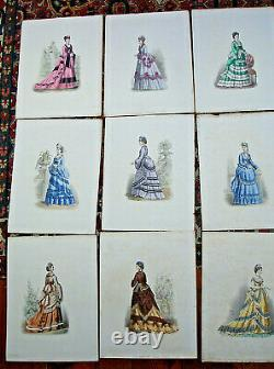 129 Gravures Parisian Elegance By F. Mille 36x27 Cm- To 1870- 1880