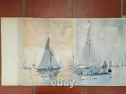 8 Boards Marin-marie Gold Book Yachting, Grand Coureurs Pleasurer 1957