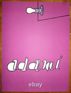 Adami Valerio Original Lithography Abstract Art Pop Art