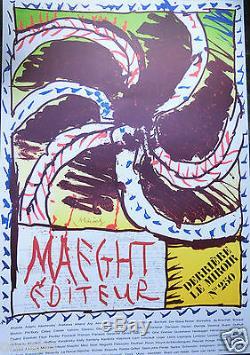 Alechinsky Pierre -lithographie Original Poster Maeght Signee- Rare