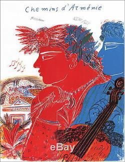 Alekos Fassianos Paths Of Armenia Signed Original Lithograph 65x50cm