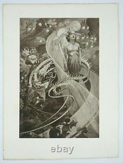 Alphonse Mucha, Le Pater, Original Lithography In Black And White, 1899