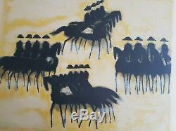 André Brasilier The Framework Black Saumur Original Lithograph Signed
