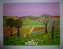 André Codagogne Lithograph Numbered Naive Art