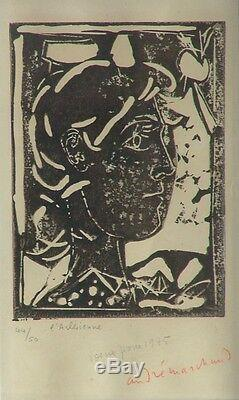 André Marchand (1907-1997) Lithography Signed In 1945 Justified & L'arlesienne