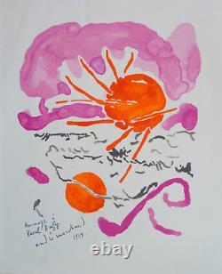 André Marchand (1907-97) Lithography 1959 Tribute To Raoul Dufy Ecole De Paris