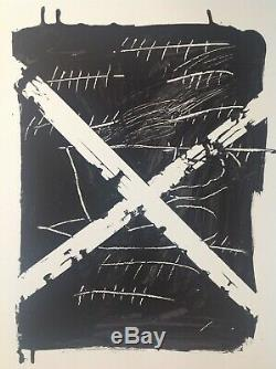 Antoni Tapies Great Rare Lithograph Signed Pencil 75x55cm 1975 Bfk Rives