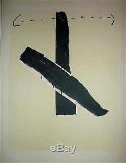 Antoni Tapies Original Lithograph 1967 Art Abstract Abstraction