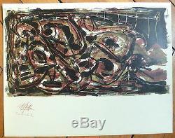 Antonio Saura Original Lithograph 1960 Art Abstract Abstraction