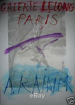 Arnulf Rainer Poster Lithograph Art Abstract Abstraction The Eiffel Ttour