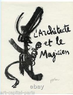 Atlan Jean Michel Original Lithography Signed Au Crayon Handsigned Lithograph