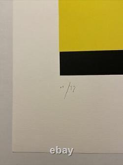 Aurélie Nemours, Signed Main, Litho 12/99, 38.5x56cm, Print In Good Condition