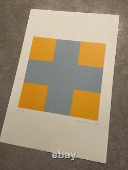 Aurélie Nemours, Signed Main, Litho 26/99, 38,5x56cm, Print In Good Condition
