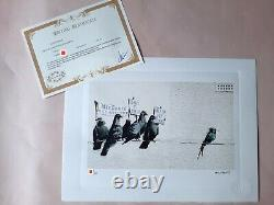 Banksy Original M Arts Edition Lithography Signed Numbered /150 Frame Inclusive