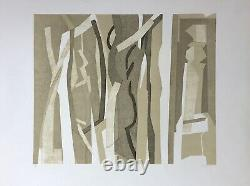 Beaudin André Original Lithography Signed 71 Abstract Abstraction Abstract Abstract Abstract Art