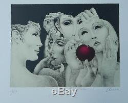 Beautiful Lithographie Original Alfonso Arana Judgment Of Paris 275ex. Porto Rico