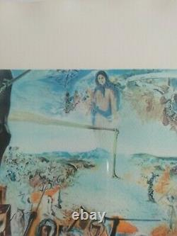 Beautiful Lithography Salvador Dali The Battle Of Tetouan Signed In Crayon