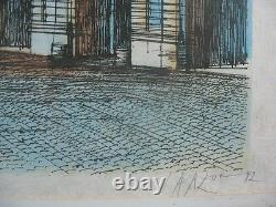 Beautiful Original Lithography On Paper Japan Fontainebeaude Carzou / 1982