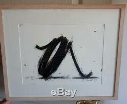 Bernar Venet Indefinite Line, Original Lithograph, Signed Numbered
