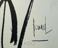 Bernard Buffet Kensuke Signed Burn # 1961 Draw 197ex