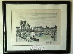 Bernard Buffet Lithograph Signed And Numbered Notre Dame Lîle Of The City