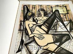 Bernard Buffet Lithography Jeux De Dames 1970 Signed By Hand