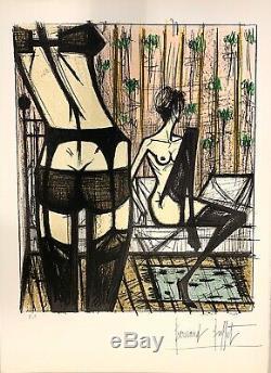 Bernard Buffet Original Lithograph Women Erotic Games Anabelle