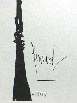 Bernard Buffet Paris Both Viewpoints Signed Burn # 1961 # 197ex