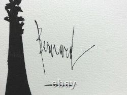 Bernard Buffet Paris The 2 Belvedères Gravure Signed, 1961, Edition 197ex