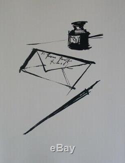 Bernard Buffet Printmaking Signed Letter # 1961 # 197ex