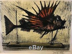 Bernard Buffet Rascasse 1964 Original Lithograph No. 112/150