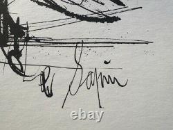 Bernard Buffet The Fir Signed Etch # 1961 # 197ex