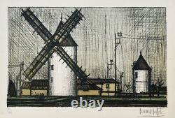 Bernard Buffet The Mills, 1953 Original Signed Lithography