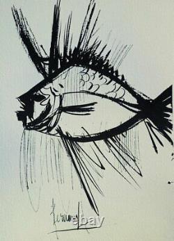 Bernard Buffet The Owl Gravure By #1961 #197ex