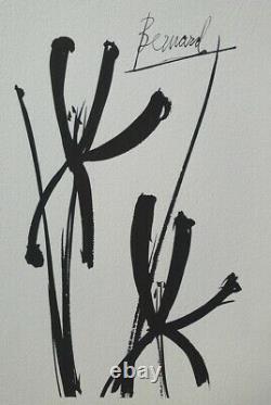 Bernard Buffet The Two Iris Gravure Signed #1961 #197ex