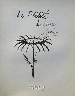 Bernard Buffet Thistle Gravure Signed #1961 #197ex