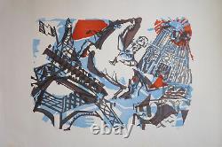 Bernard Lorjou (1908-1986) Lithography Young Painting Nle Ecole De Paris
