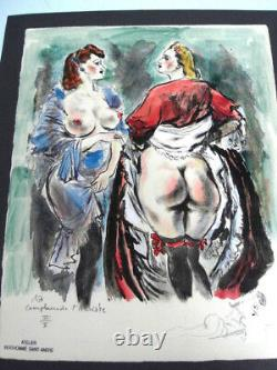 Berthomme St Andre -erotism Eloge De La Fesse -litho Aquarellee 1940- X4