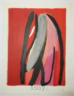 Bram Van Velde Composition 1. 1980. Original Lithograph Signed