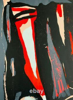 Bram Van Velde Hand Signed Lithograph Maeght, 1970
