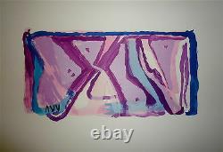 Bram Van Velde Original Lithography On Velvet Signed Abstract Art Cobra 1970