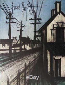 Buffet Bernard Road Lithographie The Original Town Signed #mourlot