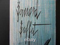 Buffet Bernard Still Life Bottle Original Lithography Signed, 1967