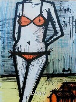 Buffet Bernard The Original Lithography Bikini Signed, 1967 By Mourlot