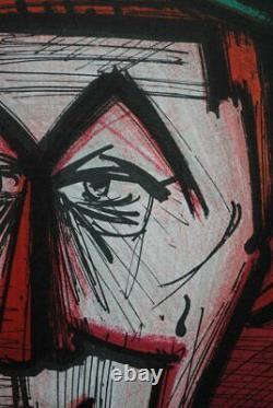 Buffet Bernard The Original Red Clown Lithography Signed, Mourlot, 1967