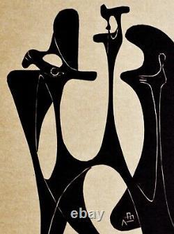 Cardenas Augustin, Linogravure Rare Original Signed 1959/ Art