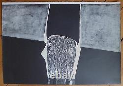 Carmassi Arturo Lithography Signed 1959 Abstract Art Abstraction Italy
