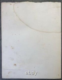 Cesar Baldaccini Lithography Menu Compression Dedication Original Felt Twentieth