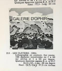 Charles Lapicque Original Print Lithography Les Oliviers