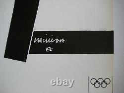 Chillida Eduardo Lithography 1972 Signed In La Planche Signed Lithograph